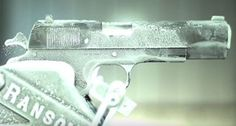 Now that's cold! Slow motion video of 1911 pistol shooting at F Video, Motion Video, 1911 Pistol, Colt 1911, Guns And Ammo, Firearms, Hand Guns, Cold
