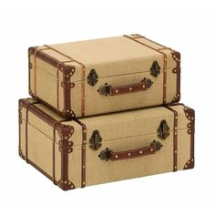 Old Vintage Suitcase | Overstock.com Shopping - The Best Deals on Accent Pieces