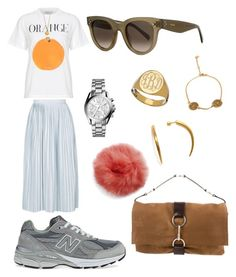 """☀️"" by klara-engholm on Polyvore featuring Topshop, Michael Kors, New Balance, Sarah Chloe, CÉLINE and Yves Saint Laurent"