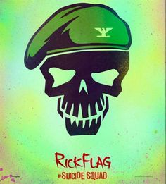 Rick Flag Suicide Squad Character Icon poster Metal Sign Wall Art x Joker And Harley, Harley Quinn, Rick Flag, Image Internet, Dc Comics, Aquaman Comics, Poster Minimalista, Deadshot, Caricatures