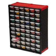 The TAFCO Small Parts Organizer keeps you neat and organized conveniently storing your small parts and craft supplies. Use as a free-standing organizer or mount to the wall using the rear keyhole Bead Storage, Plastic Storage, Storage Bins, Tool Storage, Garage Storage, Storage Ideas, Ribbon Storage, Jewelry Storage, Craft Storage