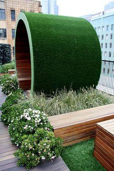 Origin Roof Garden, seven floors up at 278 Flinders Lane, Melbourne. Designed by Jamie Drurie. Green Architecture, Landscape Architecture, Landscape Design, Sustainable Architecture, Residential Architecture, Contemporary Architecture, Dream Garden, Garden Art, Garden Design