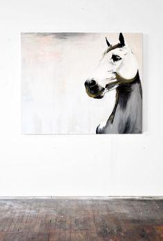 Horse painting. Mia Linnman//