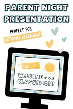 """Use this PowerPoint & Google Slides template set to create slides for your """"Meet the Teacher"""" or curriculum night presentation. You can rearrange the order and delete the slides you don't need. Choose from many different pages/headers, and mix and match for your own classroom. >>>Bonus: Many of the slides in this resource are general enough to be repurposed and used for classroom slideshows, slides for distance learning menus, and more. #parentnight #backtoschool #distancelearning #classroom Teaching Tips, Learning Resources, Teacher Resources, Classroom Setup, Google Classroom, Curriculum Night, Parent Night, Math Boards, Meet The Teacher"""
