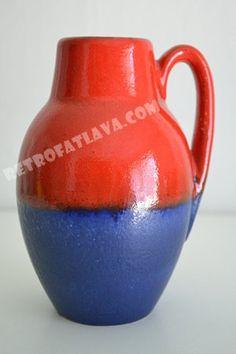 West German pottery vase by Scheurich 414-16