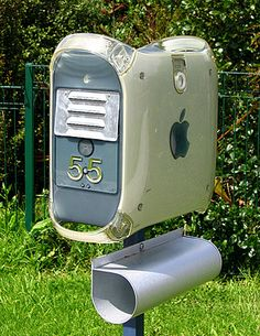 Old Apple Mac used as a mail box