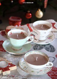 Idée cadeau de Noël des bougies de massage fait maison. #DIY #cosmetiquemaison #bougie