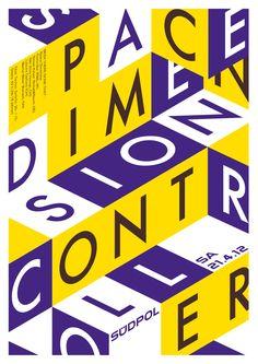 Südpol-Plakate: Space Dimension Controller, 2012