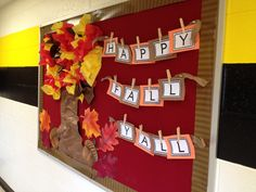 My fall bulletin board
