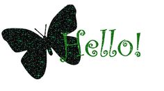 Green Butterfly Say Hello