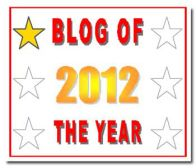 Blog of the Year 2012 awards!