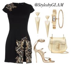 Dinner by stylesbyglam on Polyvore featuring polyvore fashion style Dsquared2 Chloé Cartier clothing