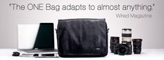 Cool looking adaptable laptop and camera bag