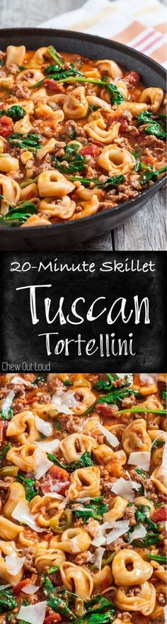 Minute Skillet Tuscan Tortellini Quick Comfort Food At Its Best Family