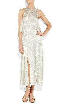 Stella McCartney Citrus-print silk dress