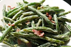 Serve these Bacon Ranch Sauteed Green Beans at your Thanksgiving dinner, and there won't be any left over! One of our favorite recipes, these are quick and easy to make on the stovetop, with just four ingredients.