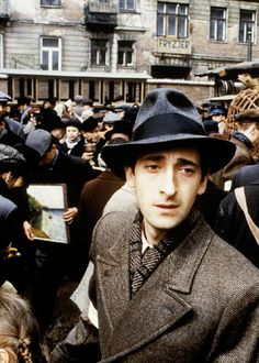 Adrien Brody in The Pianist  Such an amazing actor they couldn't have picked a better man for this act ♥