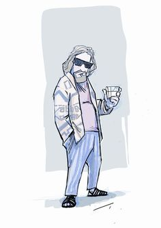 The Big Lebowski - NERDROARING | Drawings & Illustration, Entertainment, Movies, Film-Noir | ArtPal