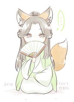 Naruto Chibi, Chibi Manga, Chibi Bts, Cute Anime Chibi, Kawaii Chibi, Kawaii Art, Cute Fox Drawing, Cute Animal Drawings, Cute Drawings