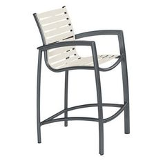 "Tropitone South Beach EZ Span 28.5"" Bar Stool Finish: Greco, Fabric: Aged Bronze"