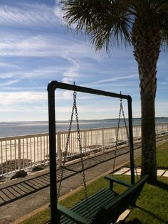 Enjoy the view from our oceanfront resort on St. Simons Island. www.kingandprince.com