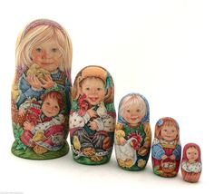 Unique Russian Nesting DOLL Hand Painted Babushka in | eBay