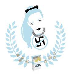 Fiona Fitzpatrick -REBECCA & FIONA - BEUTY IS PAIN & CAPITALISM | Ilustration art by Walker LaFee | #edm #djs #art #BEAUTY   #holler #candylove #beautyispain #iloveyouman, #janedoe, #bullets, #overdosedowntown #marlboro #cigarette #daisies #EDM #electronic #electronicmusic #house