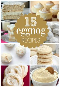 Start the holidays off right with these 15 Holiday Eggnog Dessert Recipes - Pretty My Party www.prettymyparty.com.