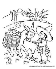 farm animal coloring page stubborn donkey