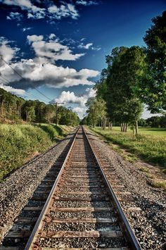 As a kid I learned that my sister & I could walk forever on a railroad track & never fall off . . . if we just reached across the track & held each other's hand.
