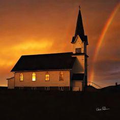 St. Olafs Rainbow Canvas Print / Canvas Art by Gene Rodman