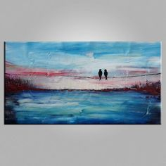 Love Birds Painting, Art for Sale, Abstract Art Painting, Living Room Wall Art Buy Paintings Online, Canvas Paintings For Sale, Online Painting, Canvas Art, Buy Canvas, Acrylic Canvas, Love Birds Painting, Hand Painting Art, Large Painting