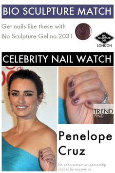 Match Penelope Cruz with Bio Sculpture Gel Bio Sculpture Nails, Celebrity Nails, Get Nails, Penelope Cruz, Celebs, Celebrities, Watch, Clock, Bracelet Watch