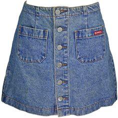 1980s Vintage Denim Skirt Mini Skirt Button Front Jean Skirt Bongo... (320 ARS) ❤ liked on Polyvore featuring skirts, mini skirts, bottoms, grey, women's clothing, short denim skirts, grey mini skirt, 80s skirts, button front skirt and denim miniskirt