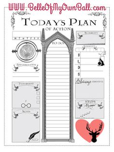 Belle Of My Own Ball: Happy Planner Freebie - Harry Potter Daily Insert