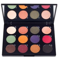 Fall Festival Palette - Transition into autumn with Coastal Scents Fall Festival Palette, including twelve season appropriate metallic, matte, and shimmery shadows for a variety of looks. The shadows can be applied dry or wet for a longer lasting effect with any eye shadow brush in your collection. All twelve eye shadow pots are held magnetically into our matte black palette.