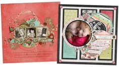 love the circle layout scrapbook