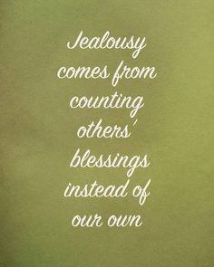 Jealousy destroys relationships!