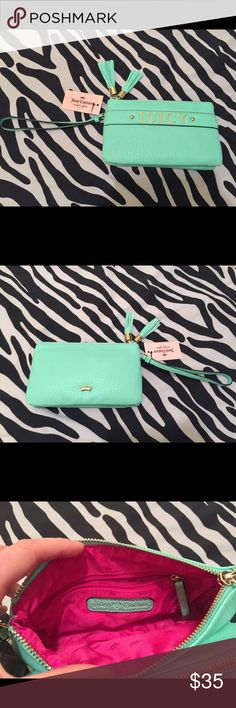 Juicy Couture GREEN Wristlet *NWT* This wristlet is as cute as it is functional. The bright color makes it the perfect accent piece. Juicy Couture Bags Clutches & Wristlets