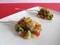 Tartar de berberechos y aguacate. To be Gourmet | Gastronomía, recetas de cocina y restaurantes.
