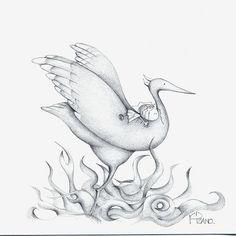 Phoenix (Maricarmen Pizano (Kind of cute. Joey Chou, World Best Photos, Doodles, Artwork, Cute, Painting, Animals, Image, Phoenix