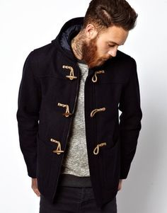 ASOS Duffle Coat In Navy on shopstyle.com Mens Duffle Coat 15679358fdbe