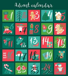 Christmas Advent calendar with hand drawn elements. Vector illustration for 25 december days. - Buy this stock vector and explore similar vectors at Adobe Stock Beach Christmas Ornaments, Christmas Lights Garland, Handmade Christmas Decorations, Christmas Gift Tags, Christmas Paper, Merry Christmas Greetings, Christmas Greeting Cards, 25 December Day, Diy Birthday Gifts For Mom
