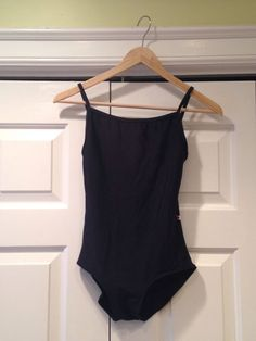 Yumiko Leotard Marisa Black Nylon With Black Nylon Trim. Really nice and simple.