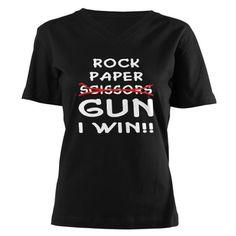 """rock, paper, gun, i win"""
