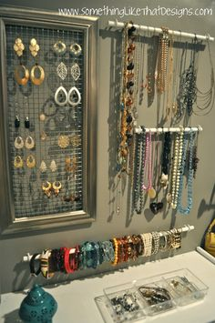 .Jewelry Organization If only I had this much jewellery