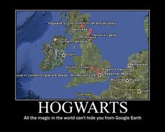 Google Earth has Hogwarts? Yes!