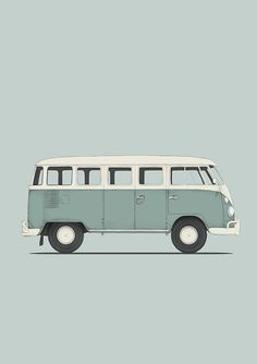 Ideas Retro Cars Illustration Vw Bus For 2019 Car Volkswagen, Volkswagen Bus, Retro Cars, Vintage Cars, Vans Surf, Tattoo Oma, Wolkswagen Van, Combi T2, Vw Caravan