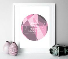 Bright Side of Life - pinks cushion by Didi Kasa Bright Side Of Life, Pink Cushions, Throw Pillows, Graphic Design, Abstract, Cherry Cherry, Frame, Prints, Teaser