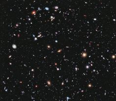 Hubbles eXtreme Deep Feield.  A composite imagine of far far into space. No further have our eyes seen
